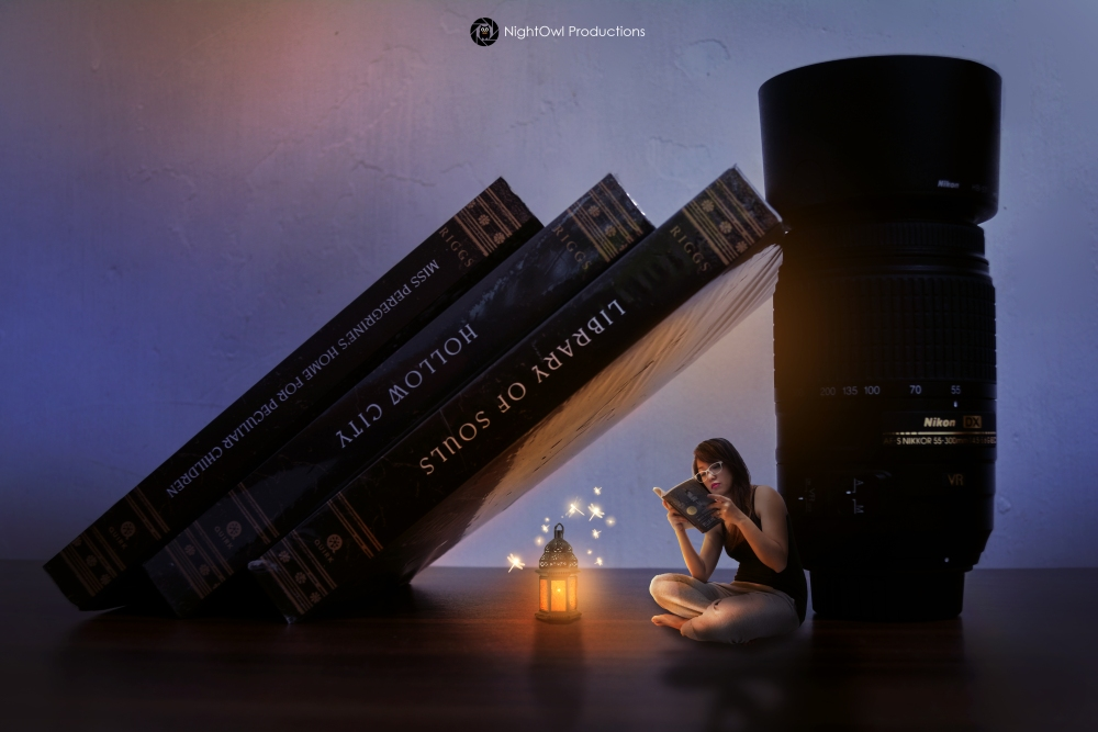 Reading-Under-Books-surreal-photography